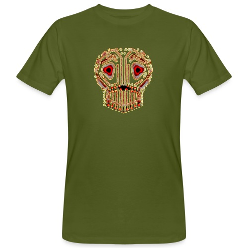 dead skull resembles herbaceous scary culture art - Men's Organic T-Shirt