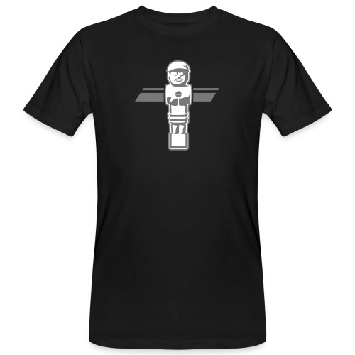 Soccerfigur 2-farbig - Kickershirt - Männer Bio-T-Shirt