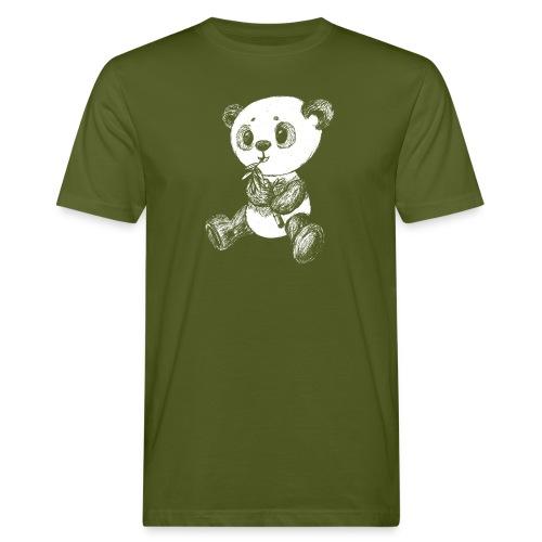 Panda Karhu valkoinen scribblesirii - Miesten luonnonmukainen t-paita