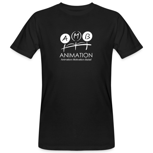 AMB Logo Animation Motivation Belief - Men's Organic T-Shirt