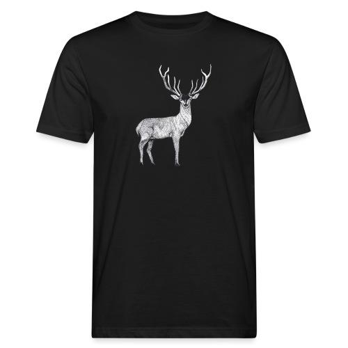 Hirsch Wald Tier Weihnachten Jagd Wild Geschenk - Männer Bio-T-Shirt