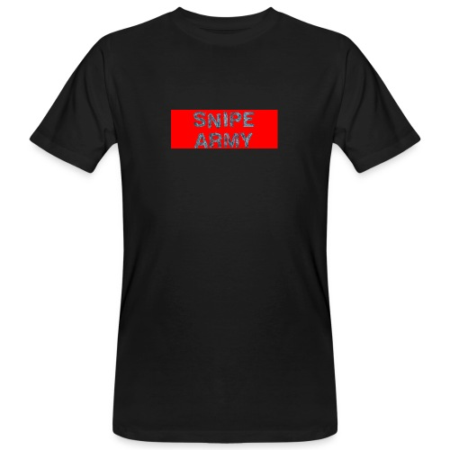 Snipe Army Box Logo - Männer Bio-T-Shirt
