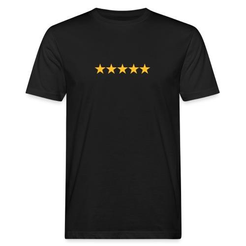 Rating stars - Miesten luonnonmukainen t-paita