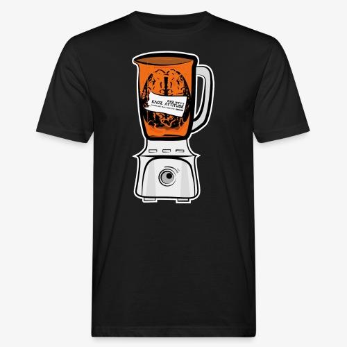 Hirn in Mixer neon orange - Männer Bio-T-Shirt