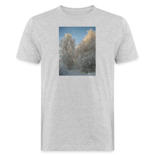 Talviset puut - Miesten luonnonmukainen t-paita