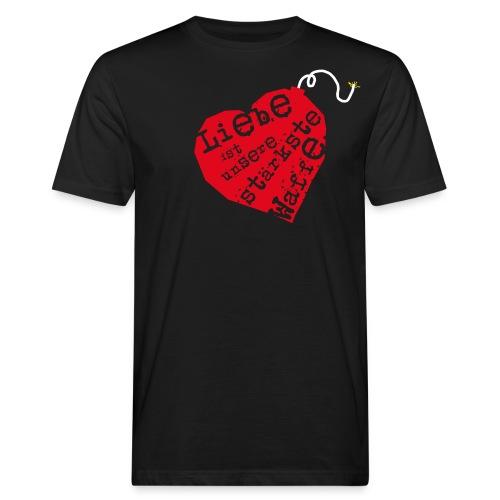 Herz - Männer Bio-T-Shirt