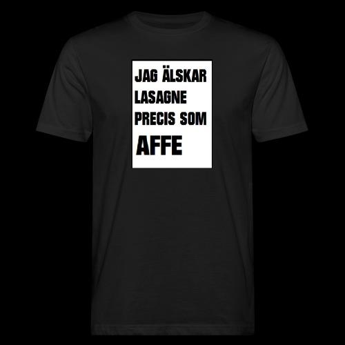 Affe älskar lasagne - Ekologisk T-shirt herr