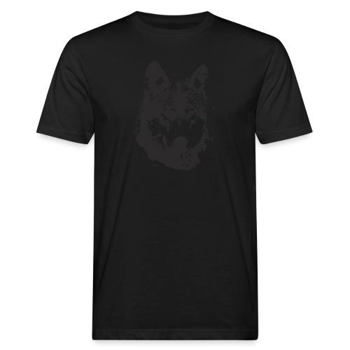 illustration te e te de loup noire - T-shirt bio Homme