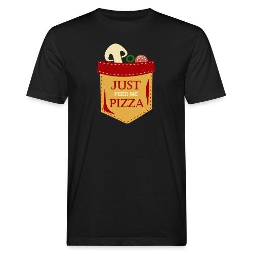 Bare mat meg pizza - Økologisk T-skjorte for menn