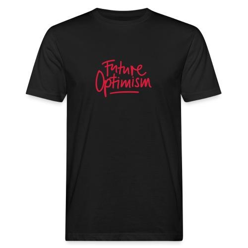 Future Optimism Red - Männer Bio-T-Shirt