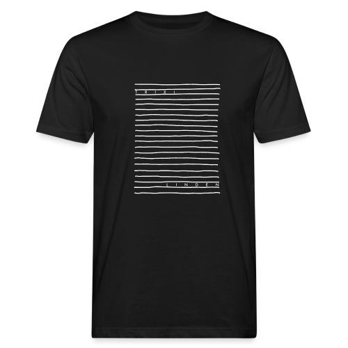 Trixi Linden Linien Design - Männer Bio-T-Shirt