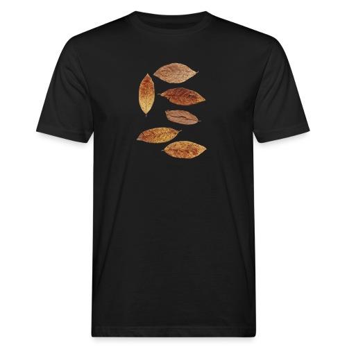 Bunte Blätter - Männer Bio-T-Shirt