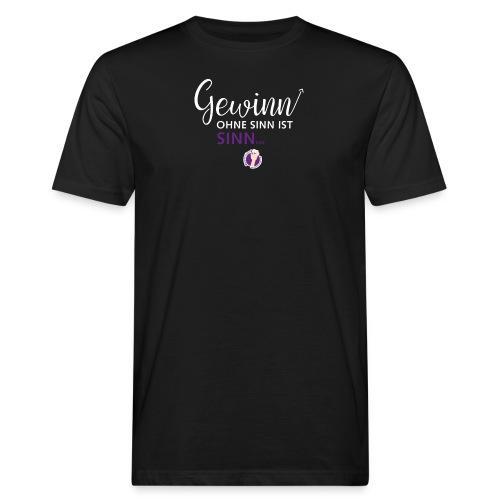 Gewinn ohne Sinn - Männer Bio-T-Shirt