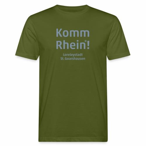 Komm Rhein! Loreleystadt St. Goarshausen - Männer Bio-T-Shirt