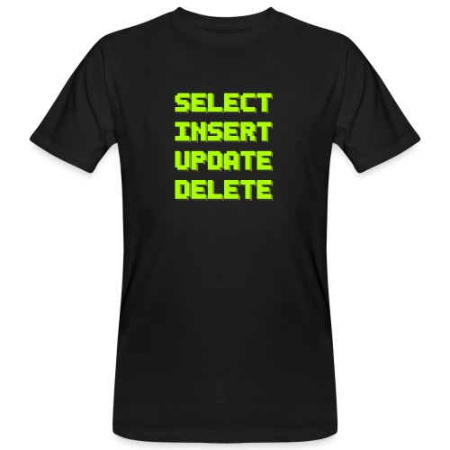 SQL pixelart black - Männer Bio-T-Shirt