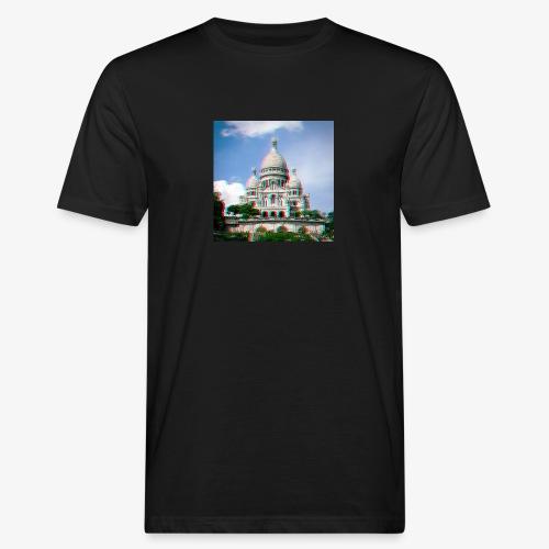 SacreCoeur Anaglyph - Männer Bio-T-Shirt