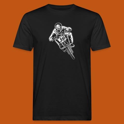 BMX Fahrrad / Bike 02_weiß - Männer Bio-T-Shirt