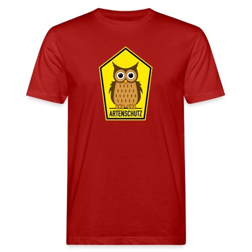 Alte Eule unter Artenschutz - Männer Bio-T-Shirt