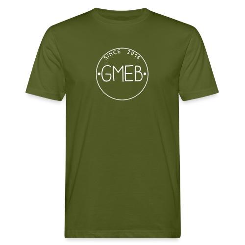 doorschijnend LOGO WIT - Mannen Bio-T-shirt