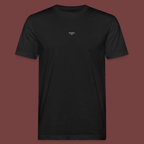 boufers hvit tekst - Økologisk T-skjorte for menn