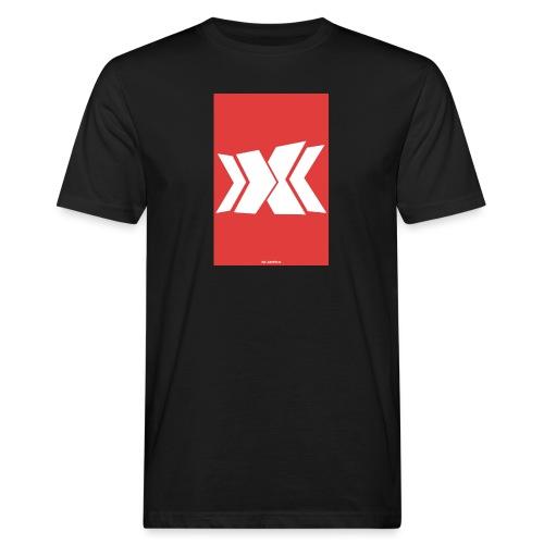 Rot/Weiß RLC Poster Logo - Männer Bio-T-Shirt