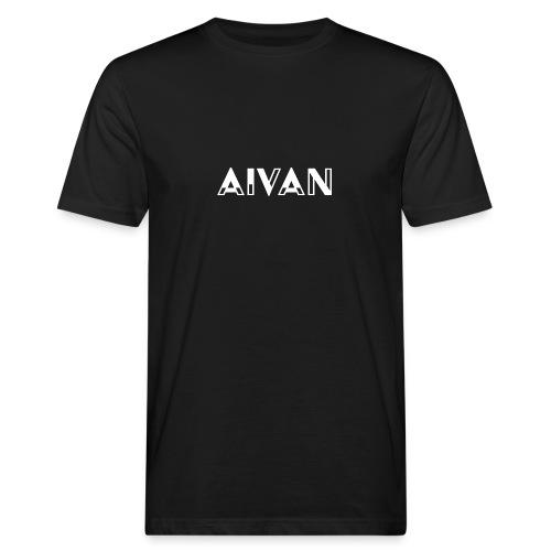 Aivan - Valkoinen teksti - Miesten luonnonmukainen t-paita