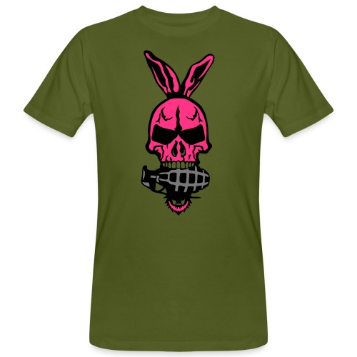 tete mort oreille lapin skull grenade 1 - T-shirt bio Homme