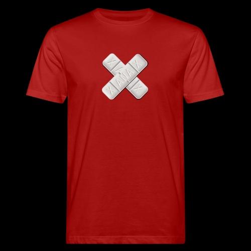 Xanax X Logo - Männer Bio-T-Shirt