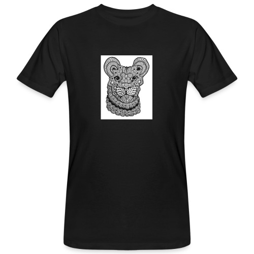 MandalaLion WhiteBG jpg - Men's Organic T-Shirt