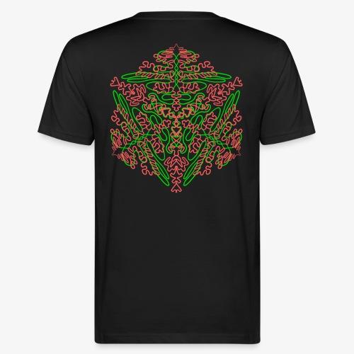 Neon Star - Mandala - Männer Bio-T-Shirt
