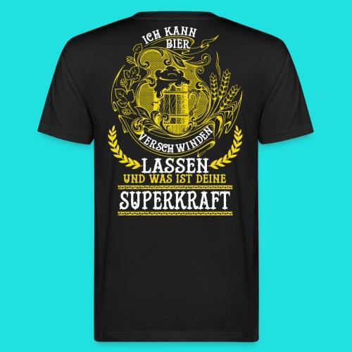 Bier Superkraft - Männer Bio-T-Shirt