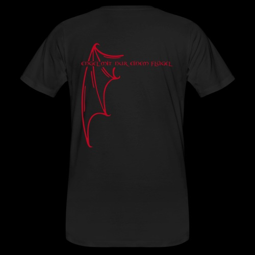 Engel mit nur einem Flügel - Männer Bio-T-Shirt