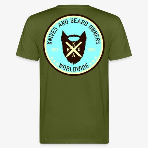 kabo logo blau braun - Männer Bio-T-Shirt