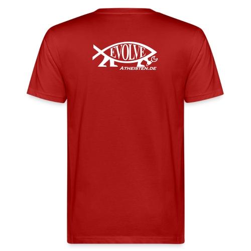 Atheisten Darwin Fish - Männer Bio-T-Shirt