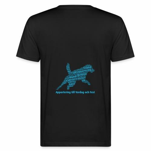 Apportering till vardag och fest wordcloud blått - Ekologisk T-shirt herr