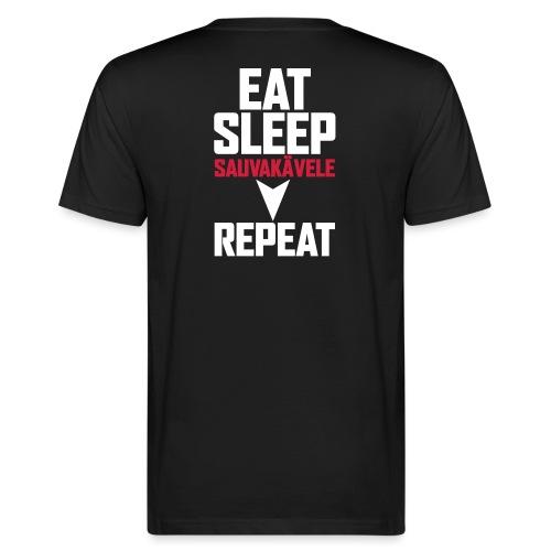 Eat, sleep, sauvakävele, repeat - Miesten luonnonmukainen t-paita