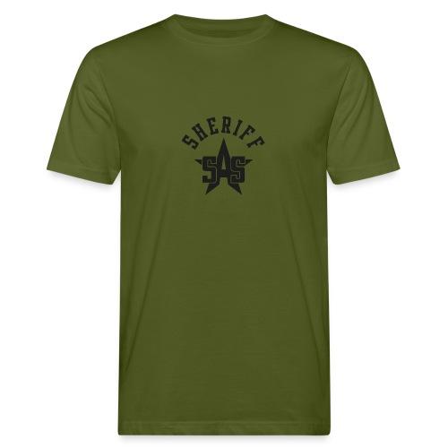 sas sheriff logo los print orig - Mannen Bio-T-shirt