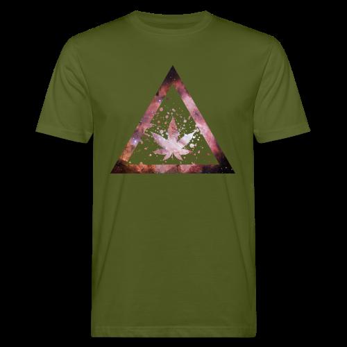 Galaxy Weed Marijuana Triangle Splashes - Männer Bio-T-Shirt