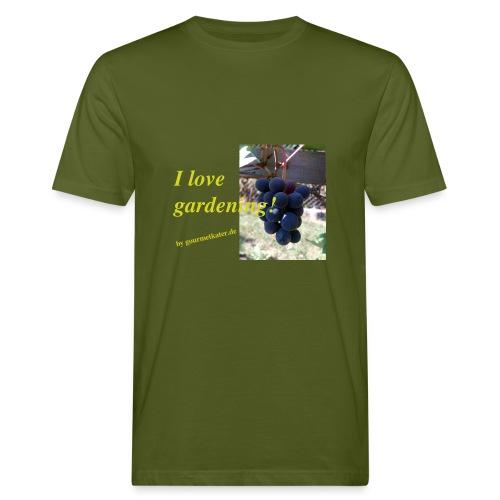 Weintraube - I love gardening - Männer Bio-T-Shirt