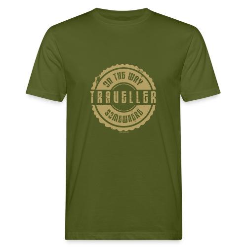 FP 13TR-03 ON THE WAY SOMEWHERE-TRAVELLER PRODUCTS - Miesten luonnonmukainen t-paita