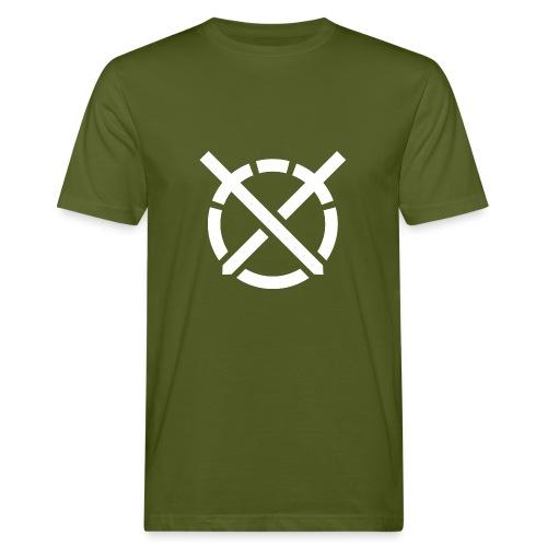 «Arte do Combate», simbolo em branco - Camiseta ecológica hombre