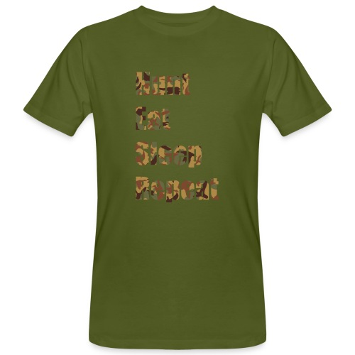 Hunt, Eat, Sleep, Repeat - Männer Bio-T-Shirt