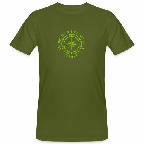 Kompass – Loreley - Männer Bio-T-Shirt