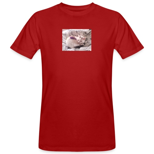 CAT SURROUNDED BY MICE AND BUTTERFLIES. - Men's Organic T-Shirt