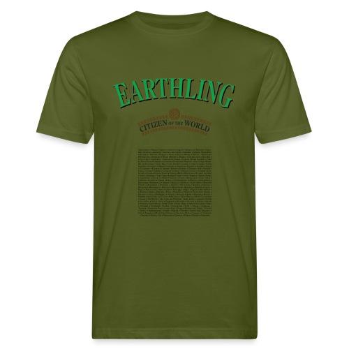 Earthling - Citizen of the World - Ekologisk T-shirt herr