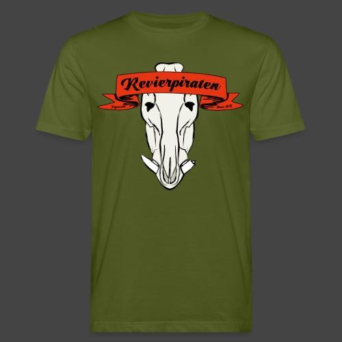 Revierpiraten rot - Männer Bio-T-Shirt
