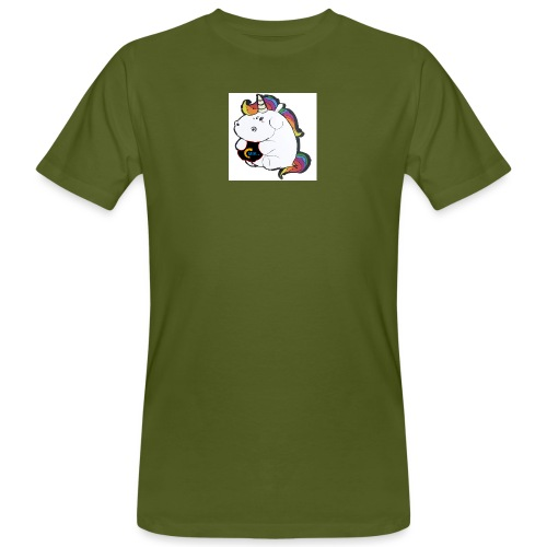 MIK Einhorn - Männer Bio-T-Shirt