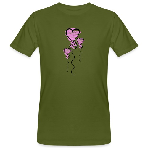 Herzballons - Männer Bio-T-Shirt