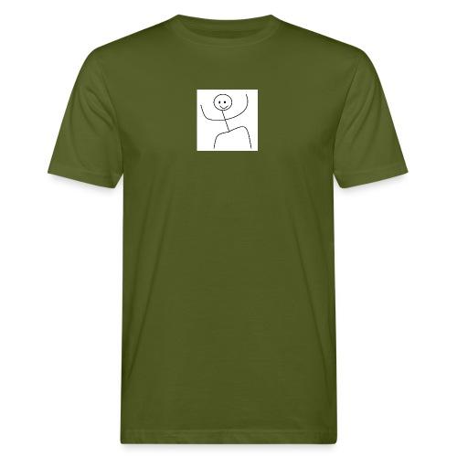 lady t-shirt stick man - Organic mænd