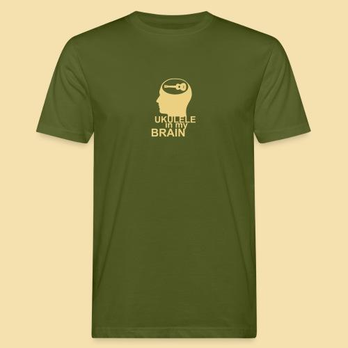 Ukulele in my brain - Männer Bio-T-Shirt